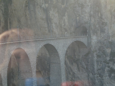Approaching the Landwasser Viaduct