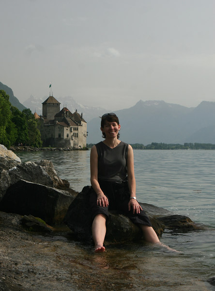 Paula at Chillon, Lake Geneva
