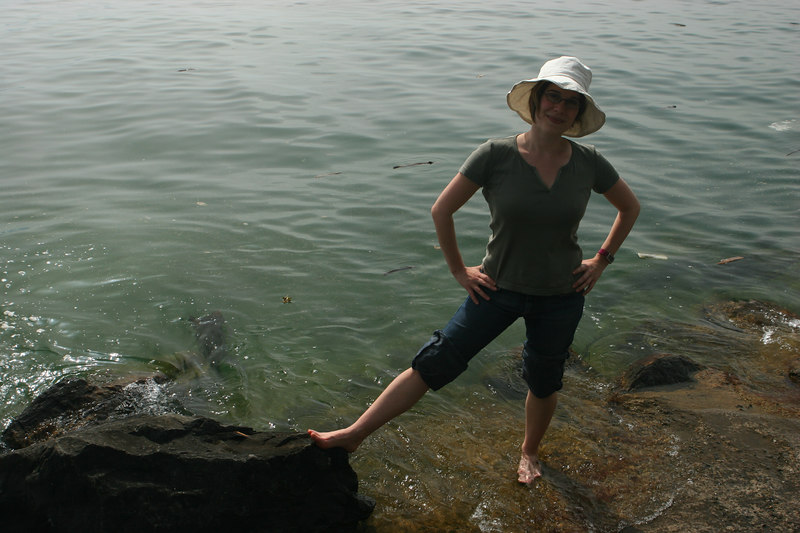 Terri at Lake Geneva near Chillon