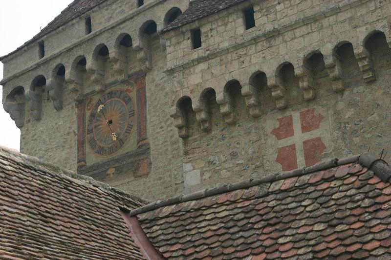 Clock, Chillon Castle on Lake Geneva