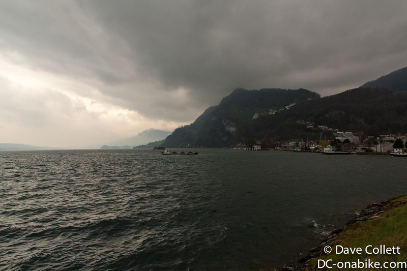 Weather on the lake near Lucerne