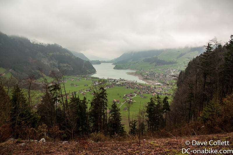 View back towards Interlaken (at the far end of the lake)