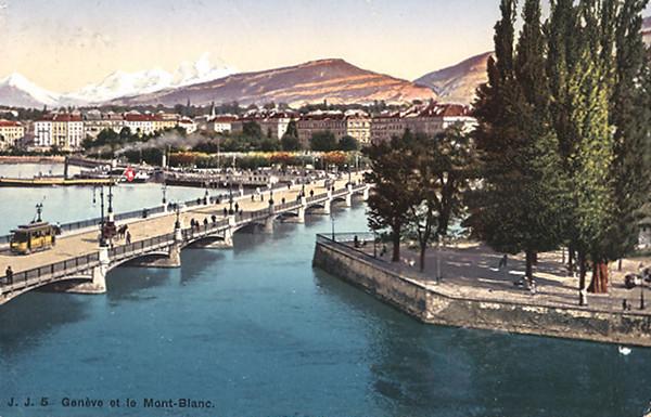 Geneva and Mont Blanc