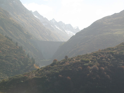 Picture of one of the many dams in the many valleys