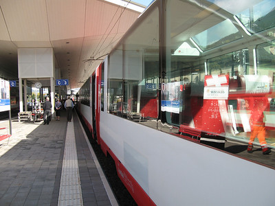Picture taken of the outside of the train when we stopped to join the train that had started 30 minutes before us.