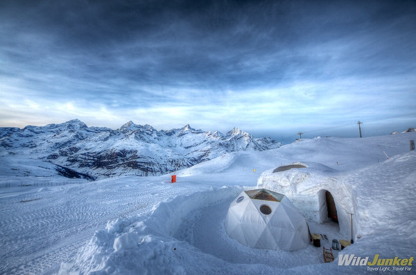 Sleeping in an igloo in Switzerland