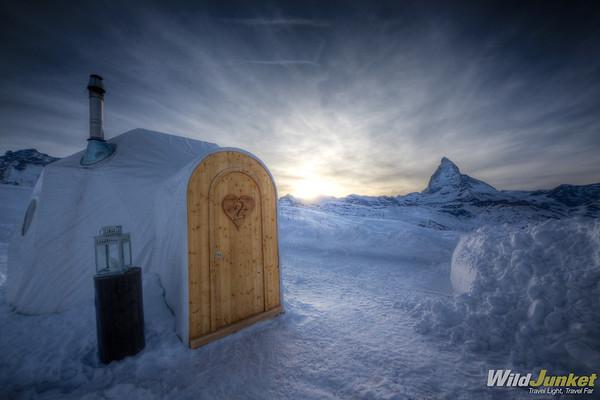 Hot Igloo in Iglu-Dorf Zermatt