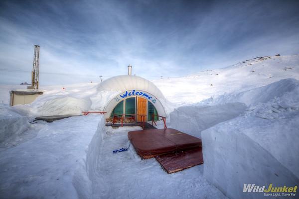 Warm Room and Hottubs in Iglu-Dorf Zermatt