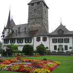 Spiez Castle on Lake Thun  – Interlaken, Switzerland – Photo