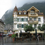 Swiss Cafe on a Rainy Day – Interlaken, Switzerland – Photo