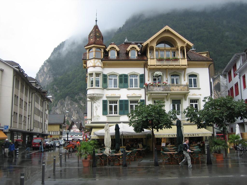 Swiss Cafe on a Rainy Day - Interlaken, Switzerland - Photo