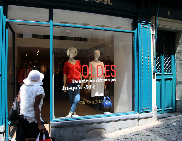 Switzerland, Lake Geneva Region, Lausanne, Shopping, Rue de Bourgs