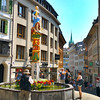 Switzerland, Lake Geneva Region, Lausanne, Fountain of Justice