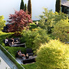 Switzerland, Lake Geneva Region, Lausanne, Royal Savoy Hotel Garden