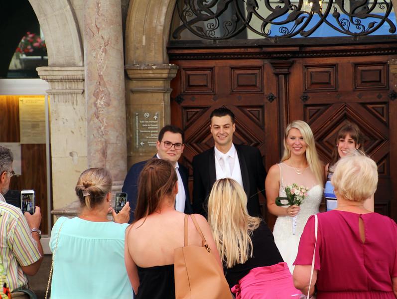Switzerland, Lake Geneva Region, Lausanne, Wedding Party