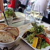 Switzerland, Lake Geneva Region, Lausanne, Cuisine Cafe des Artisans, Grilled Vegetables