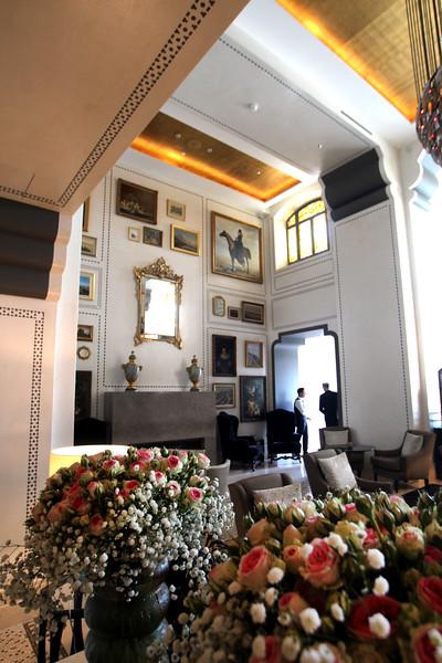 Switzerland, Lake Geneva Region, Lausanne, Royal Savoy Lobby