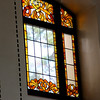 Switzerland, Lake Geneva Region, Lausanne, Royal Savoy, Art Deco Windows