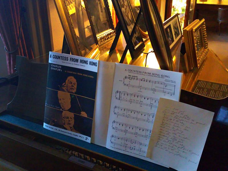 Switzerland, Lake Geneva Region, Vevey, Chaplin's World, Piano & Composition