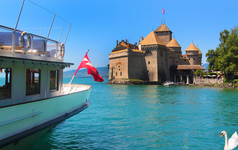 Switzerland, Lake Geneva Region, Chillon Castle