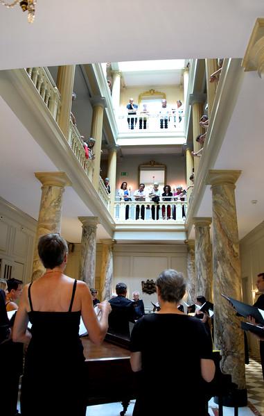 Switzerland, Lake Geneva Region, Vevey, Hotel des Trois Couronnes, Sunday Concert in Lobby