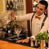 Switzerland; Lake Geneva Region; Vevey,  Hotel des Trois Couronnes, Martini