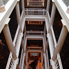 Switzerland, Lake Geneva Region, Hotel des Trois Couronnes, View down on Foyer