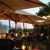 Switzerland, Lake Geneva Region, Romantic Dining on Patio, Hotel des Trois Couronnes
