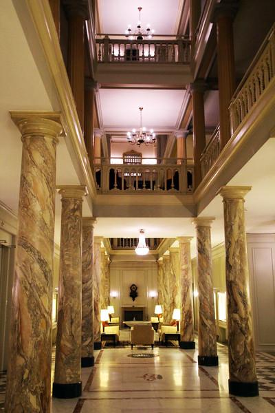 Switzerland; Lake Geneva Region; Vevey, Lobby, Hotel des Trois Couronnes