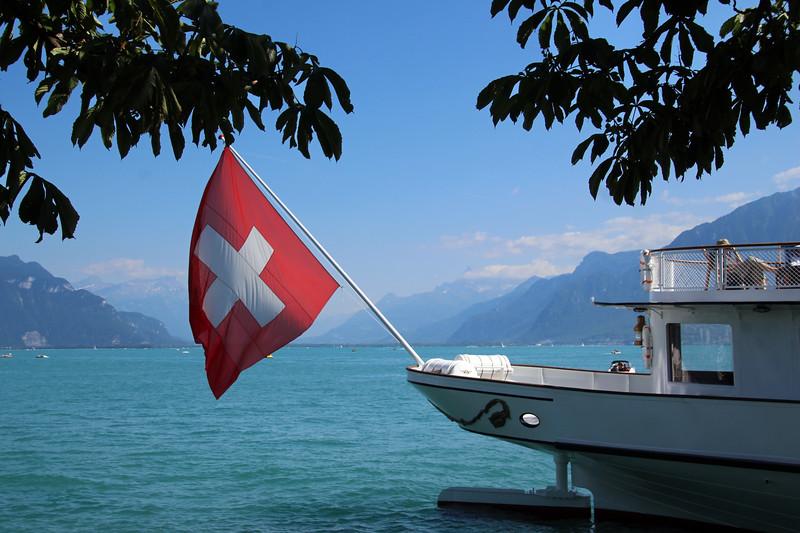 Switzerland, Lake Geneva Region, View on Lake from Vevey