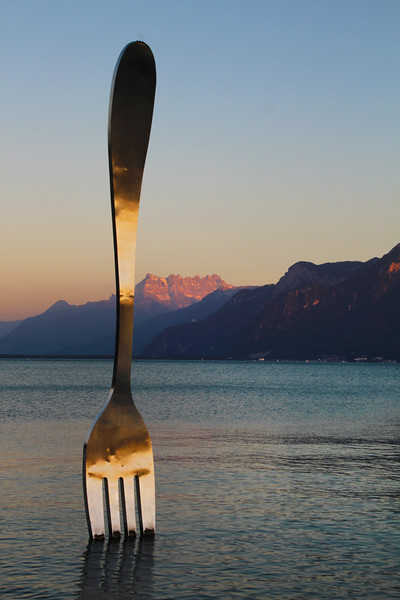 Switzerland, Lake Geneva Region, La Fourchette, Vevey