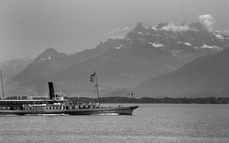 Switzerland, Lake Geneva Region, La Suisse Passenger Ship