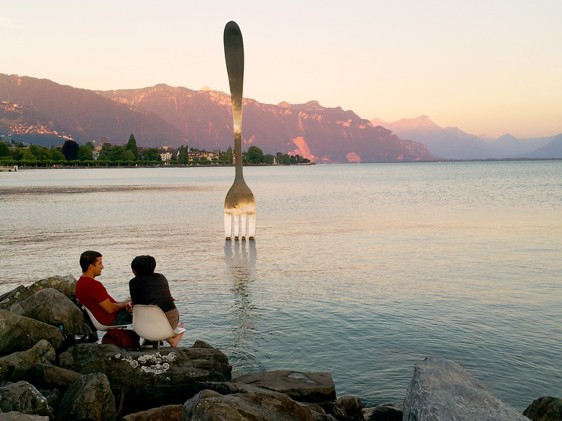 Switzerland, Lake Geneva Region, Vevey, La Fourchette