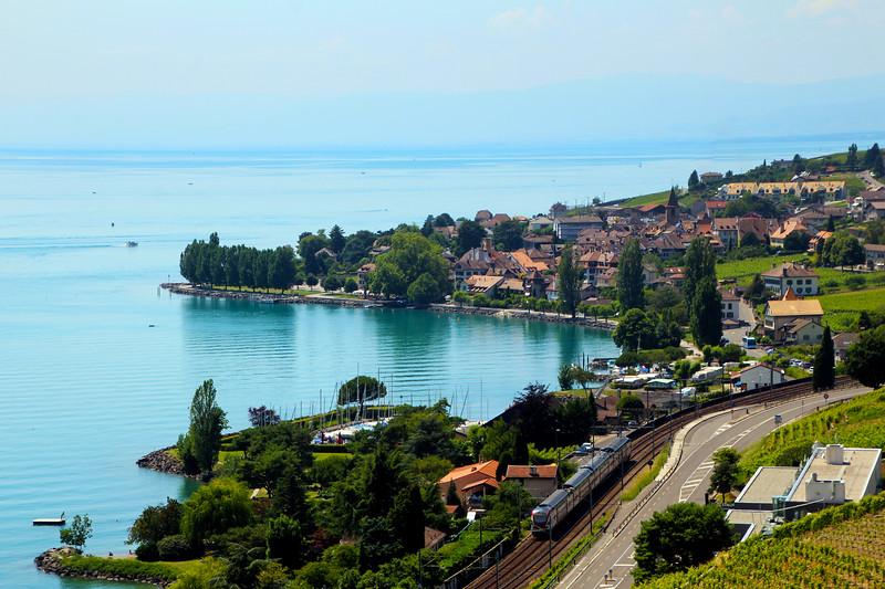Switzerland, Lake Geneva Region, Cully in the Lavaux Region