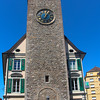 Switzerland, Lake Geneva Region, Vevey, Clock Tower