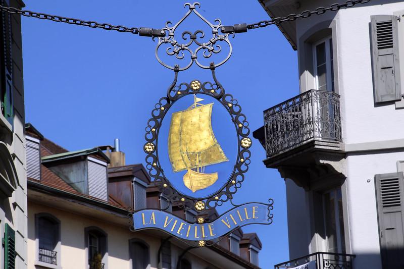 Switzerland, Lake Geneva Region, Vevey, Old Town
