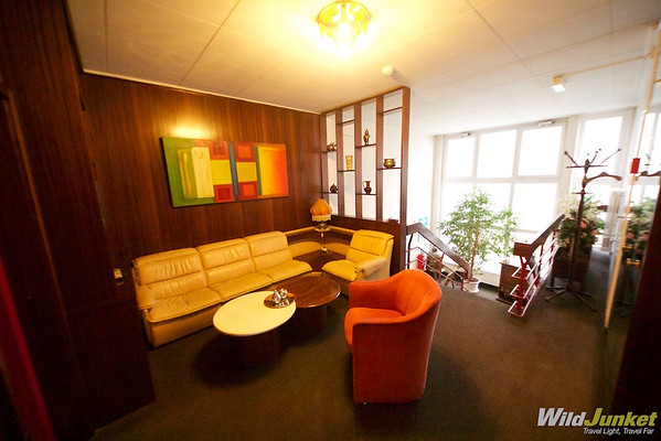 small living area on the top floor at Minotel Crystal Hotel