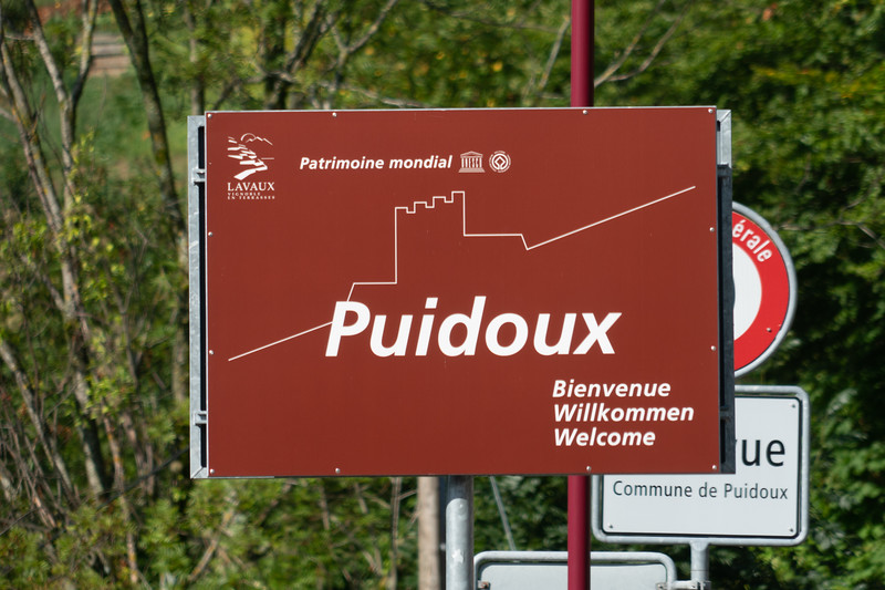 Puidoux is one of several small villages in the world heritage area