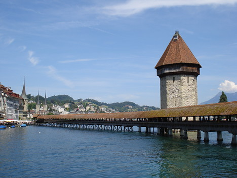 Chapel Bridge And Water Tower, Lucerne - Switzerland