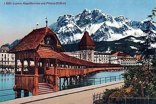 Kapellbrücke und Pilatus