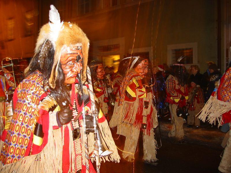 Luzern Fasnacht band -- Indians