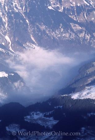 Mt Titlis - View of Engelburg