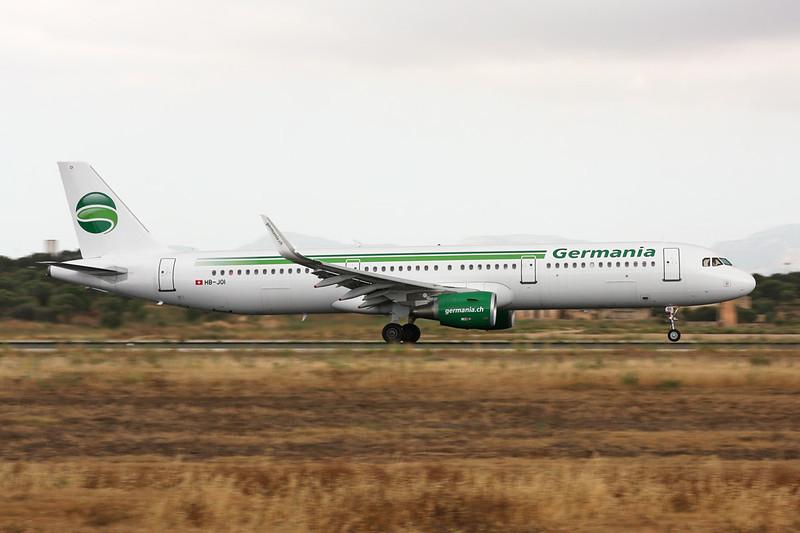 "HB-JOI Airbus A321-211 ""Germania Flug"" c/n 5843 Palma/LEPA/PMI 14-06-16"