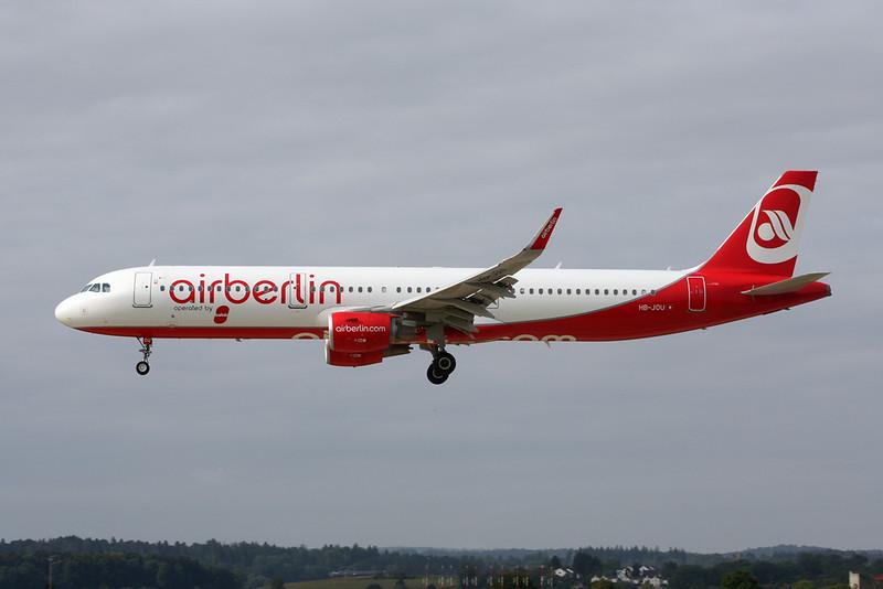 """HB-JOU Airbus A321-211 """"Belair"""" c/n 6454 Zurich/LSZH/ZRH 08-09-17"""