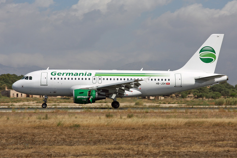 "HB-JOH Airbus A319-111 ""Germania Flug"" c/n 3589 Palma/LEPA/PMI 15-06-16"