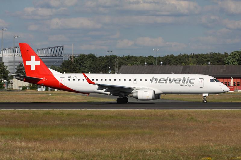 "HB-JVL Embraer Emb-190-100LR ""Helvetic Airways"" c/n 19000354 Frankfurt/EDDF/FRA 03-06-15"