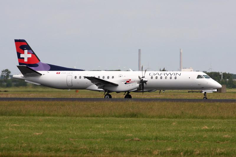 "HB-IZX Saab 2000 ""Darwin Airlines"" c/n 041 Amsterdam/EHAM/AMS 21-06-14"