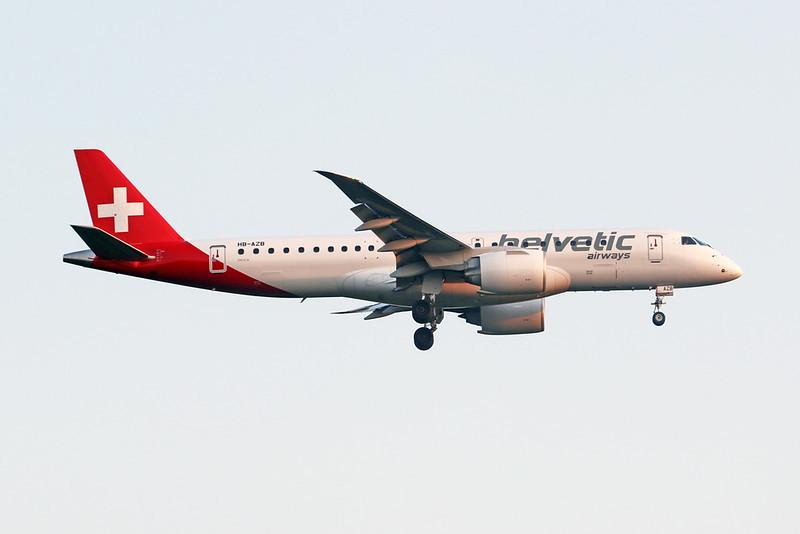 """HB-AZB Embraer Emb-190-300STD """"Helvetic Airways"""" c/n 19020026 Frankfurt/EDDF/FRA 11-09-20"""