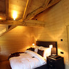 Switzerland, Pays-d'Enhaut, Rougemont, Hotel Valrose, Vaulted Bedroom