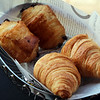 Switzerland, Pays-d'Enhaut, Breakfast Croissants, Hotel Valrose